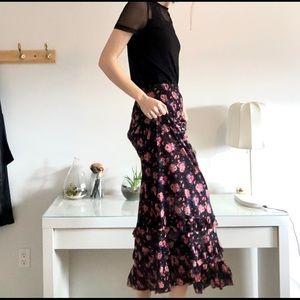 🌺🌺F21 Floral Maxi Skirt